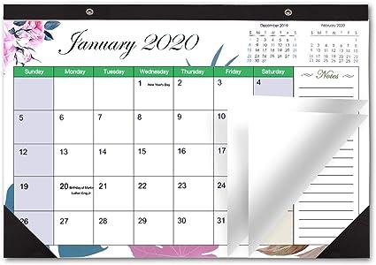 Calendario 2019 de escritorio o pared, mensual, tamaño grande de ...