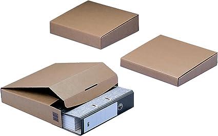 NIPS 143380114 - Cajas para embalaje para carpeta Basic 50, 10 unidades, incluyen lengüeta de cierre, 64/42 x 298 x 325 mm, color marrón: Amazon.es: Oficina y papelería