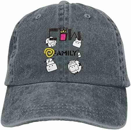 1f5c6a9f3e6 roylery Funny Cow Family Men Baseball Cap Printed Adjustable Cowboy Hat