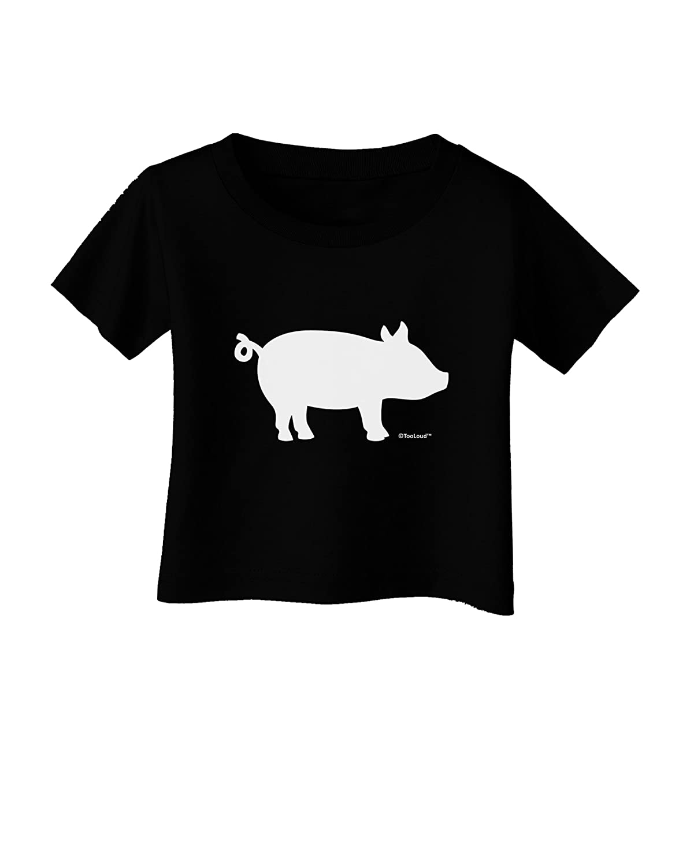 TooLoud Pig Silhouette Design Infant T-Shirt Dark