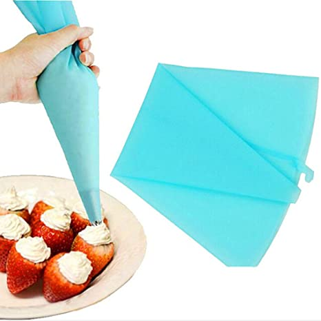 DIY Reusable Silicone TPU Piping Icing Bags Pastry Decorating Cream Cake Tools