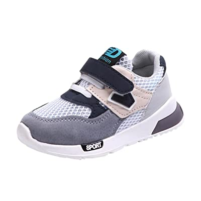 Moonker Kid Shoes,Toddler Baby Boy Girl Children Casual Sneakers Mesh Soft Running Letter Hollow Shoes 0-9Y