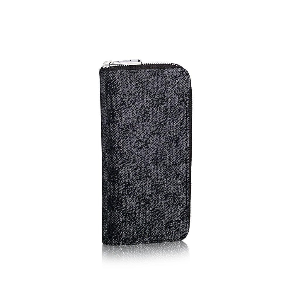 593885cd34f Amazon.com: Louis Vuitton Zippy Wallet Vertical Damier Graphite ...