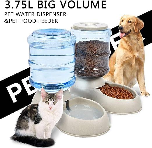 LONG-C Dispensador Automático De Alimentos para Gatos, Dispensador ...