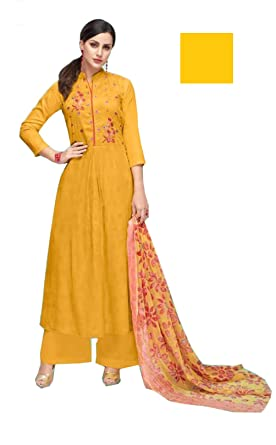 25b08f5998 Designer Pakistani Style NEW ARRIVAL Suits for Women, Pure Cotton Satin  Print With Self Embroidery