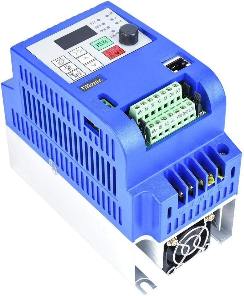 1pc 380VAC 6A Variador de frecuencia Variador VFD Controlador de velocidades para motor de CA trif/ásico de 2.2kW