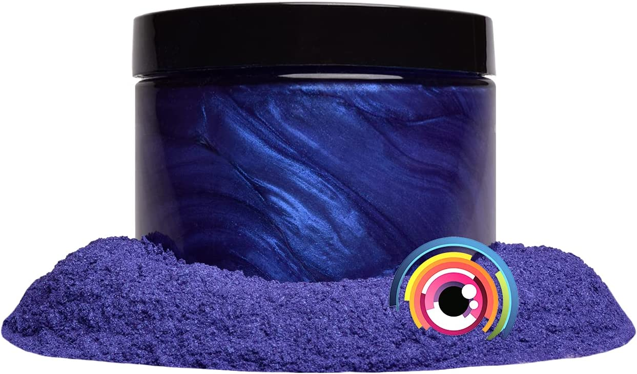 "Mica Powder Pigment ""Kyoho Grape"" (50g) Multipurpose DIY Arts and Crafts Additive | Woodworking, Epoxy, Resin, Paint, Soap, Natural Bath Bombs, Nail Polish, Lip Balm (Kyoho Grape, 50G)"