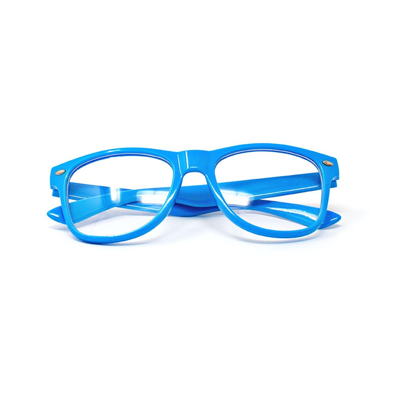 Ultra Blau Classic Style Multi Color Klare Linse Kostüm Gläser ...