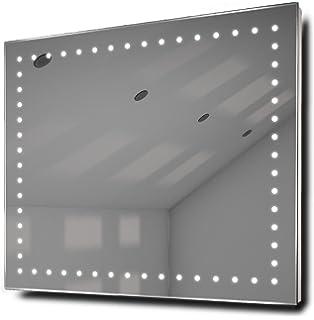 miroirs lumineux empire rasoir miroir de salle de bain led avec anti bue et capteur - Miroir Salle De Bain Antibuee Radio