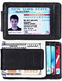 Money Clip, Front Pocket Wallet, Leather RFID Blocking...