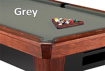 8u0027 Oversized Simonis 860 Grey Billiard Pool Table Cloth Felt