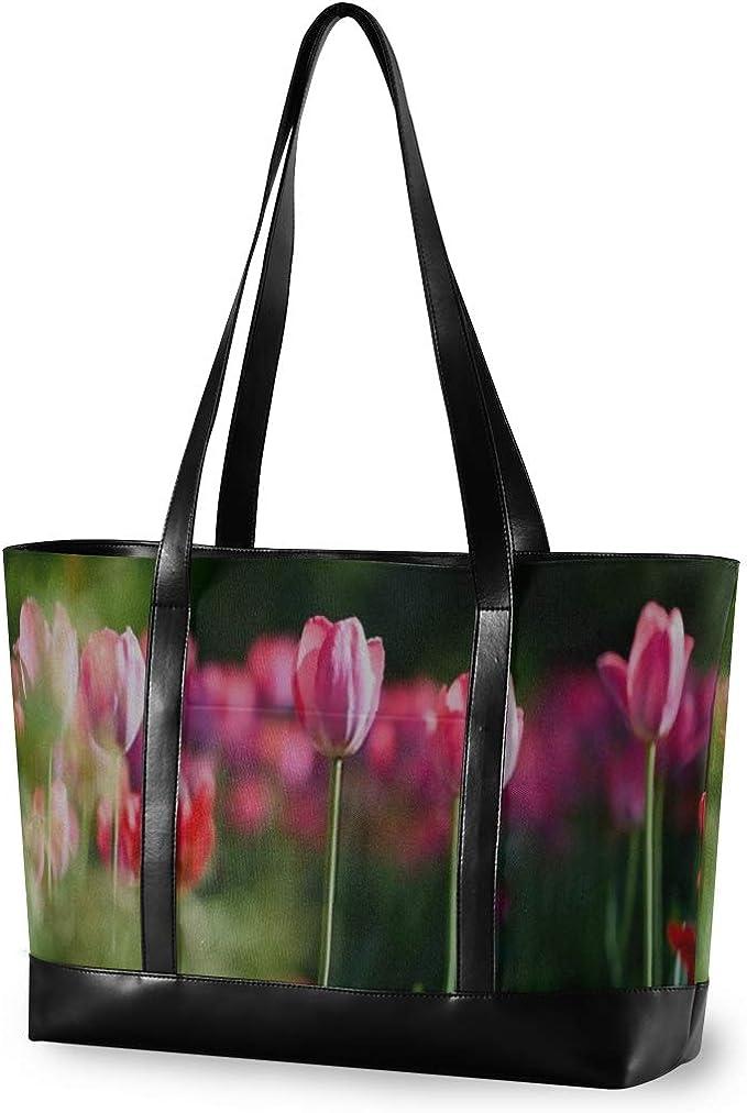 Shoulder Bag Bright Fresh Pretty Tote Floral Made in America White Flower Petals Fun SucculentTote Bag Designer Purse Pink