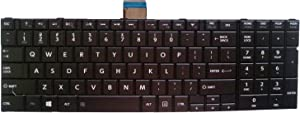 Replacement Keyboard Compatible with Toshiba Satellite C50-A C55-A C55D-A C55T-A C55DT-A C55DT-A C55-A5302 C55-A5281 C55D-A5206 C55DT-A5348 C55T-A5222 Series Laptop Black US Layout