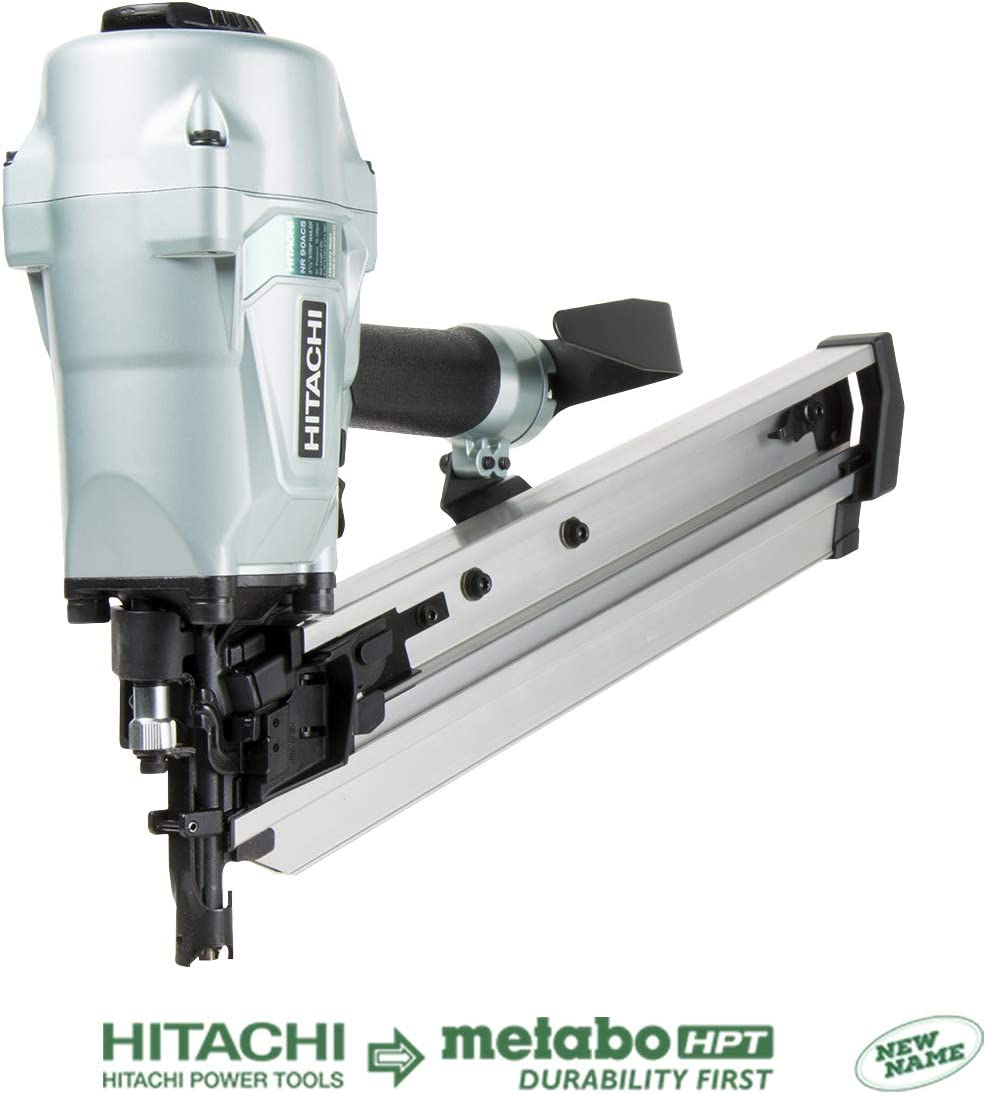 Hitachi NR90AC5 Framing Nailer for LVL, 2-3 8 to 3-1 2 Plastic Collated Nails, 0.162 , Full Head, 21 Degrees