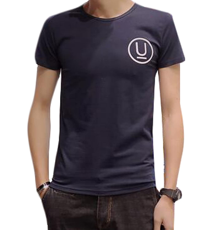 Vska Men's Classic Print Pattern Short Sleeve T-Shirts