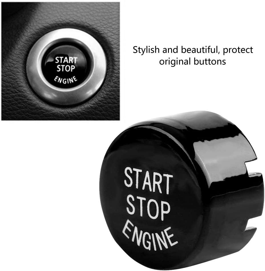 Car Engine Start Stop Switch Button Cover for BMW G F Chassis F20 F21 F22 F23 F30 F31 F32 F33 F10 F11 G30 F12 F13 F01 F02 Black