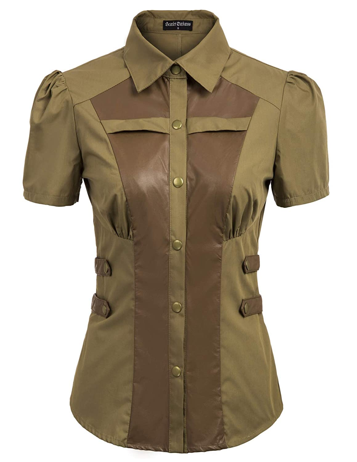 Steampunk Tops | Blouses, Shirts Womens Gothic Punk Shirts Handsome Steampunk Costume Tops $25.99 AT vintagedancer.com