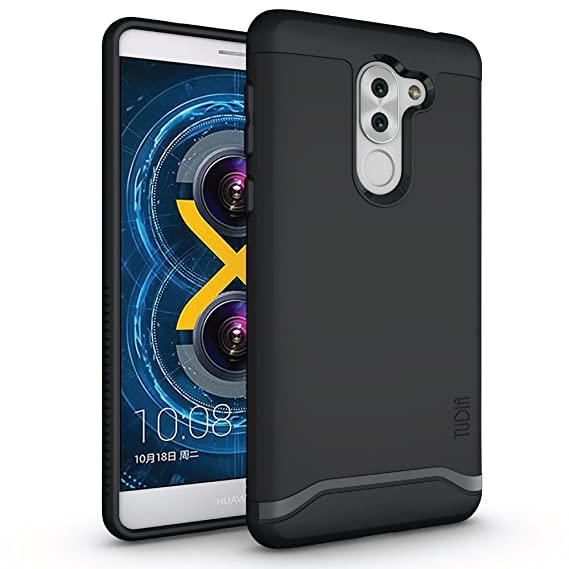 watch 888bc 98de6 TUDIA Honor 6X Case, Slim-Fit Heavy Duty [Merge] Extreme Protection/Rugged  but Slim Dual Layer Case for Huawei Honor 6X (Matte Black)