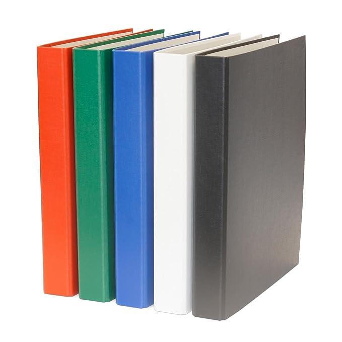 gelb und türkis Farbe DIN A5 2-Ring Ordner je 1x orange 3x Ringbuch