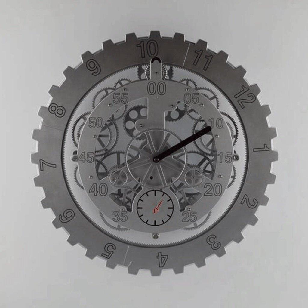 TXXM® クリエイティブギア回転クロック18インチギアクロック、クリエイティブウォールクロック (色 : B) B07F3XG3DQ B B