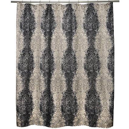 Amazon Waverly Fresco Finale Smoke Fabric Shower Curtain Home