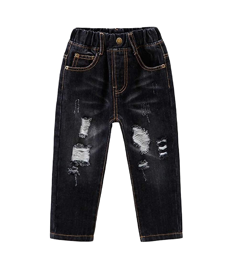 Wofupowga Boys Distressed Trousers Denim Jeans Hole Pants