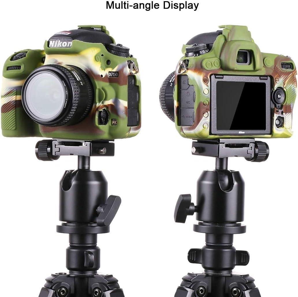 Camouflage Xdashou Camera Case Wuzpx Easy Silicone Protective Case for Nikon D750 Color : Color1