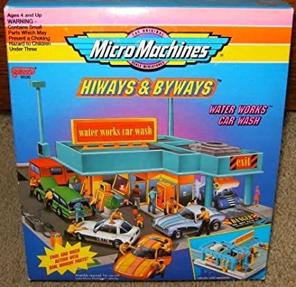 Amazon Com Micro Machines Water Works Car Wash Playset Toys Games