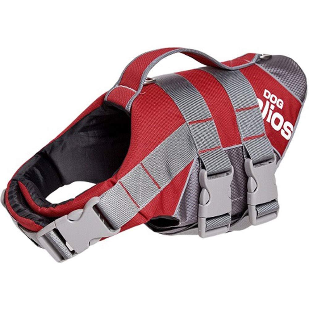 Red L Red L XDYFF Pet Life Jacket, Life Jackets for Dogs,Pet Float Coat Dog Lifesaver Dog Life Vest Pet Reflective Saver Preserver Life Vest
