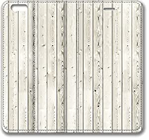 E-luckiycase Leather Cover White Wood Case For Sumsung Galaxy S4 I9500 Cover Case (Inch)