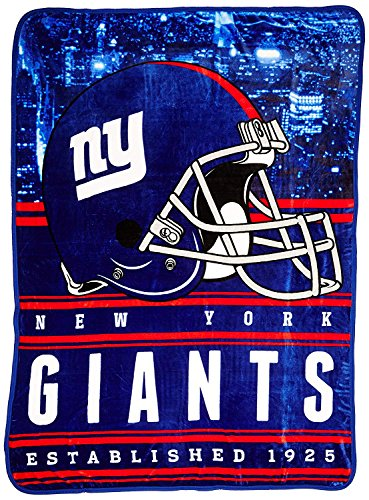 - Officially Licensed NFL New York Giants Stacked Silk Touch Throw Blanket, 60