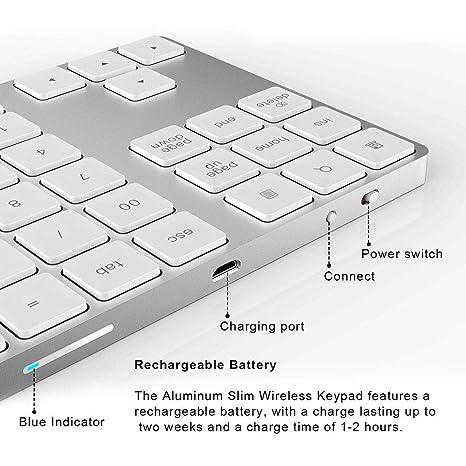 Amazon.com: HDJC Bluetooth Keyboard Aluminum Wedge Design ...