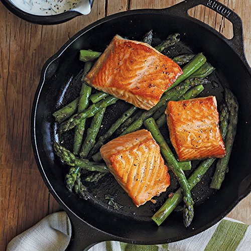 Lodge Cast Iron Skillet, Pre-Seasoned and Ready for Stove Top or Oven Use, 10.25, Black