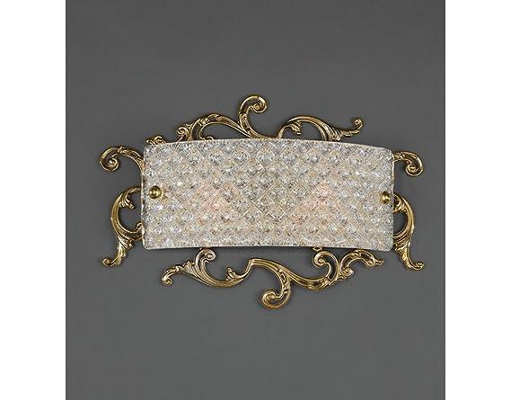 La lampada luigi xvi applique classica da muro in ottone con vetro