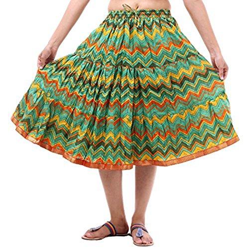 Indian Handicrfats Export Multi Printed Short Skirt