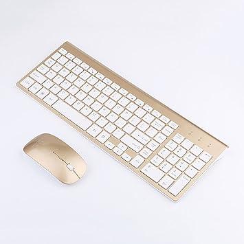 SINCERE@ Ultrafinas de negocios de moda teclado 2.4G ratón inalámbrico y teclado rosas para