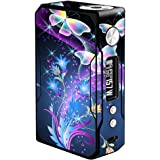 Skin Decal Vinyl Wrap for Voopoo Drag 157W TC Resin/Reg. Vape Mod stickers skins cover/ glowing butterflies in flight