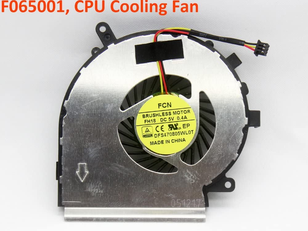 iiFix New Replacement CPU Cooling Fan For CPU GPU for MSI MS-16JB MS16JB GE62VR GP62MVR GP62VR 6RF 7RF 7RFX Series Inside Assembly