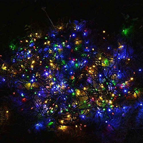 Qedertek Solar Christmas String Lights, 72ft 200 LED Fairy ...