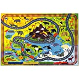 """KC CUBS Playtime Collection Animal Safari Road Map Educational Learning & Game Area Rug Carpet for Kids and Children Bedrooms and Playroom (3' 3"""" x 4' 7"""")"""