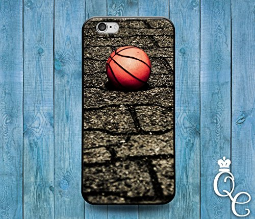 *BoutiqueHouse* iPhone 4 4s 5 5s 5c SE 6 6s plus + iPod Touch 4th 5th 6th Generation Cool Sporty Sport Basketball Court Orange Ball Cover Cute Athlete Case(iPhone 5/5s) (Ipod Court 5 Case Basketball)