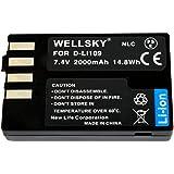 [WELLSKY] PENTAX ペンタックス D-Li109 互換バッテリー [ 純正充電器で充電可能 残量表示可能 純正品と同じよう使用可能 ] K-r/K-30 / K-50 / K-70 / K-S1 / K-S2 / KP/D-BG7