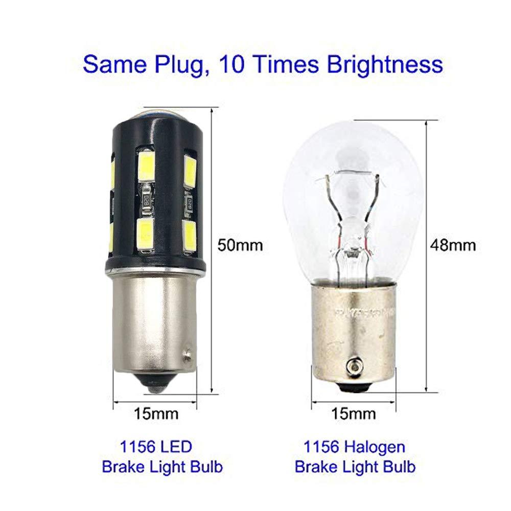 Door Courtesy Light 6Pcs 194 LED Bulbs 6000K White Super Bright T10 Car Interior Light Bulbs 2-3030 SMD 168 175 2825 W5W Led Bulbs for Dome Light Map Light License Plate Light Trunk Light