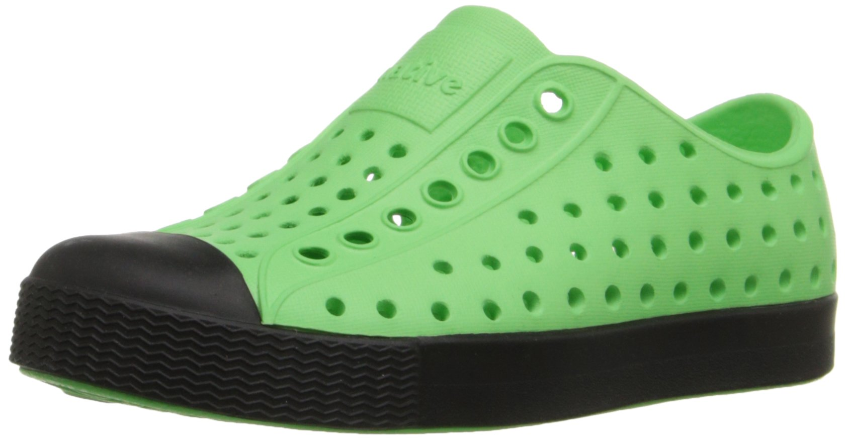 Native Jefferson Slip-On Sneaker,Mescal Green/Jiffy Black,4 M US Toddler