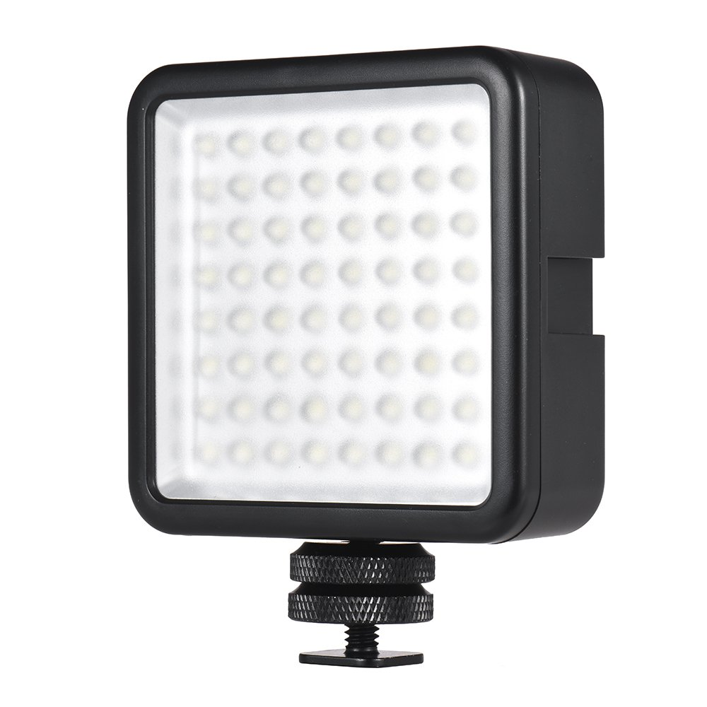Andoer LED 64 USB Continuous On Camera LED Panel Light Portable Mini Dimmable Camcorder Video Lighting for Canon Nikon Sony A7 Panasonic Olympus Neewer Godox Photo Studio