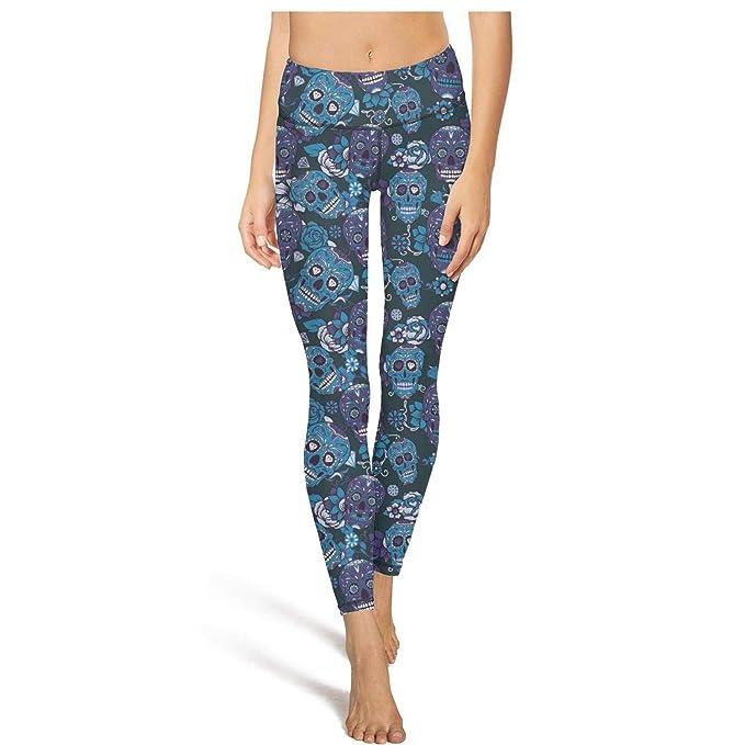 Amazon.com: PDAQS - Leggins para yoga, diseño de calaveras ...
