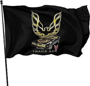 RJHWJFOO Pontiac Trans Am Firebird Polyester Flag Indoor/Outdoor Wall Banners Decorative Flag 3' X 5'