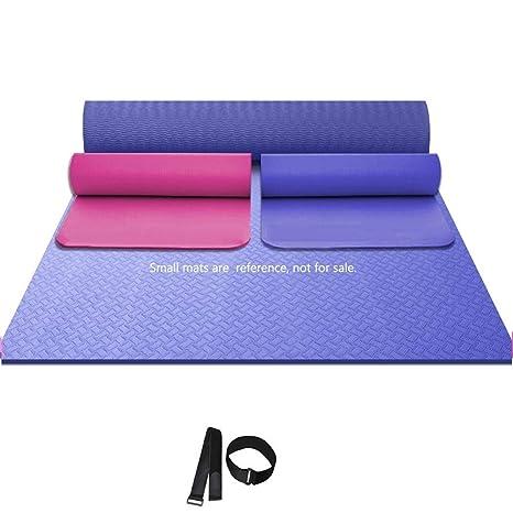 Amazon.com: Oversized Yoga Mat Non-Slip Double Yoga Mat ...
