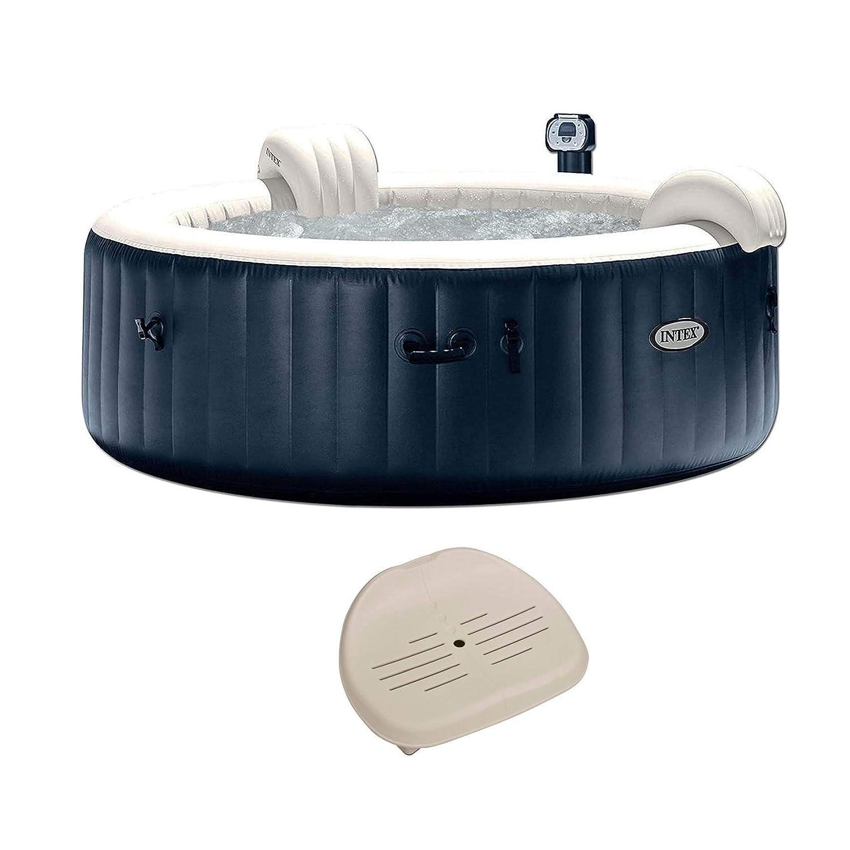 Intex Pure Spa Inflatable 6 Person Outdoor Bubble Hot Tub Non Slip Seat Insert