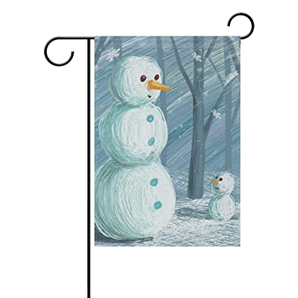 Amazon com : Chic Houses Snowman Watercolor Painting Outdoor